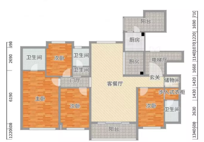 四居室新中室别墅设计